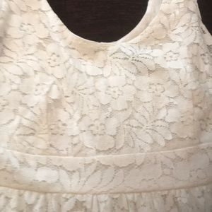 Wet Seal Dresses - Size 4 ivory lace/nicely lined sundress
